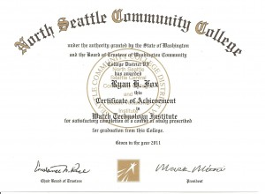 North Seattle Community College Watch Technology Institute
